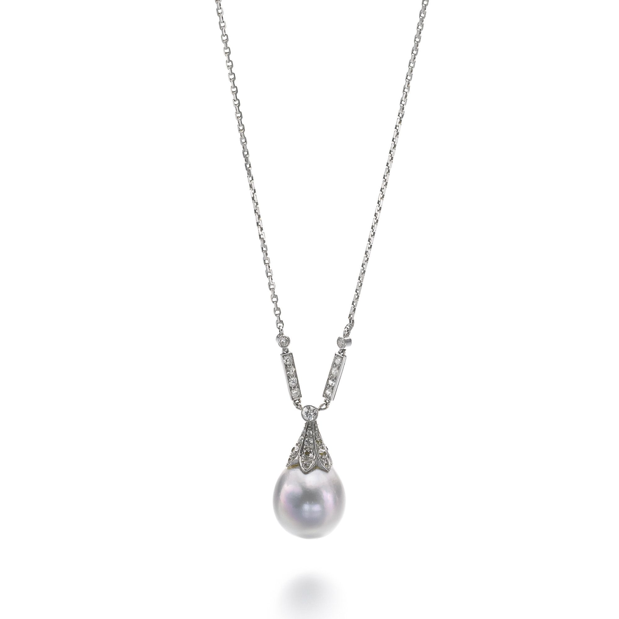 chain listing necklaces pearl fullxfull galatea silver il rose necklace rope sterling on pendant single