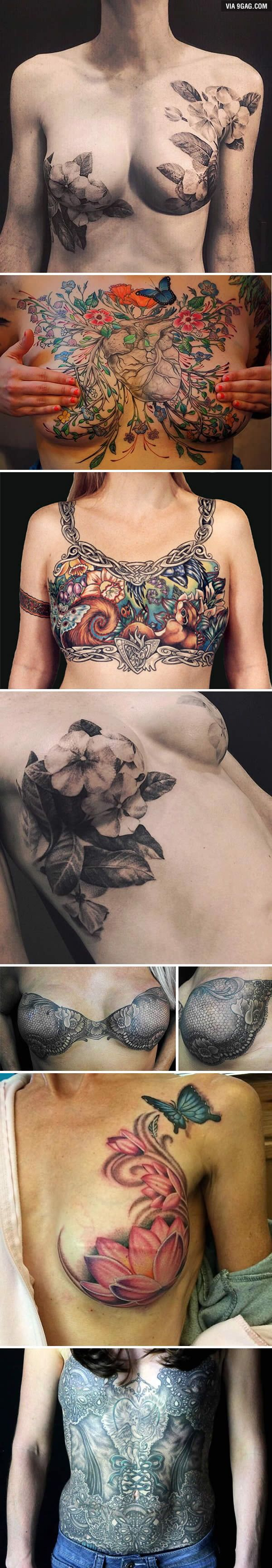 Photo of Tattoo Artists Help Cover Breast Cancer Survivors' Scars With Beautiful Tattoos