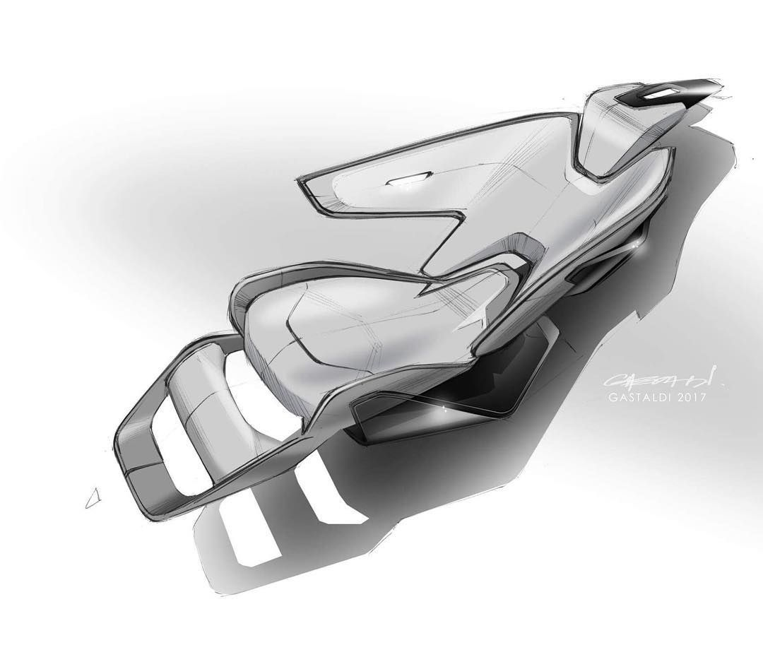 Sport Car Seat Design Sketch Futuristic Car Seating Sketch
