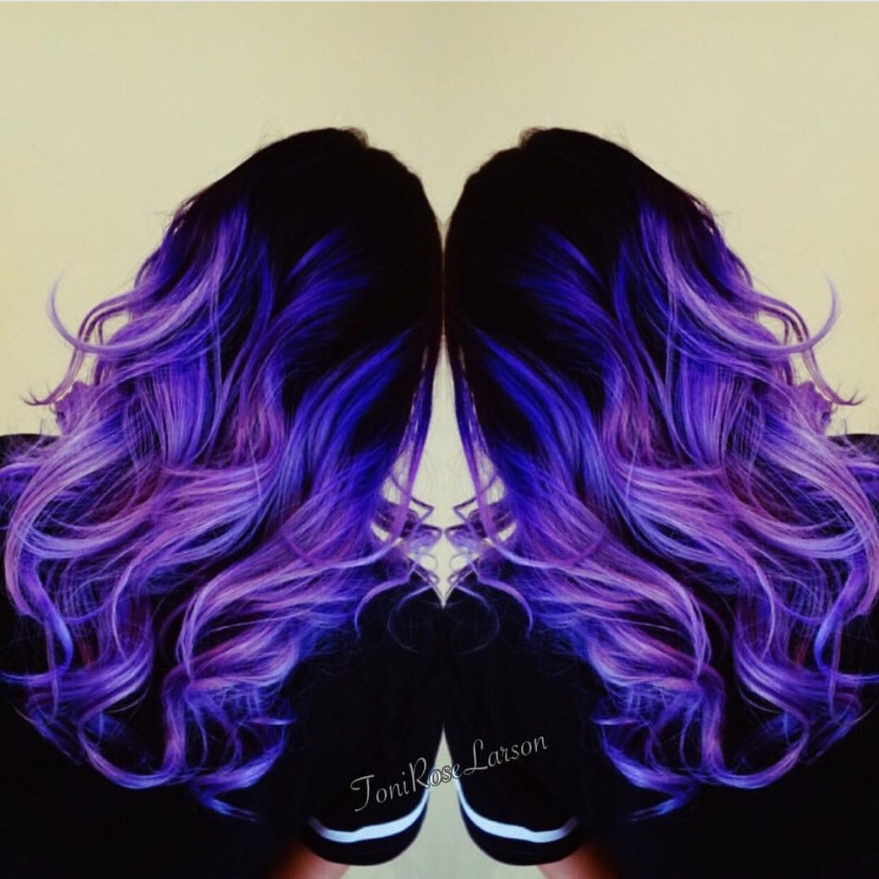 Violet hair color and purple too by toni rose larson mermaid hair