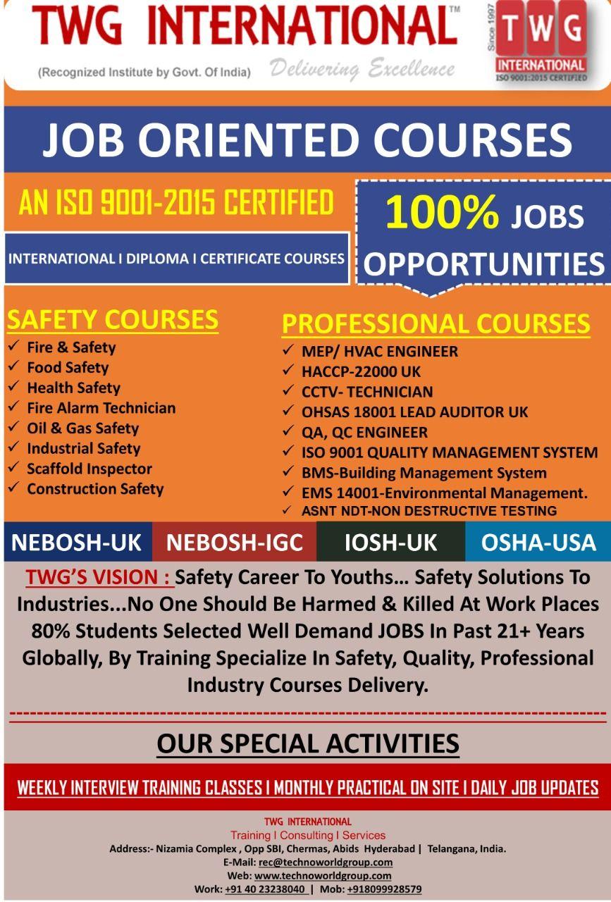 JOBORIENTED COURSES AN ISO 90012015 CERTIFIED 100