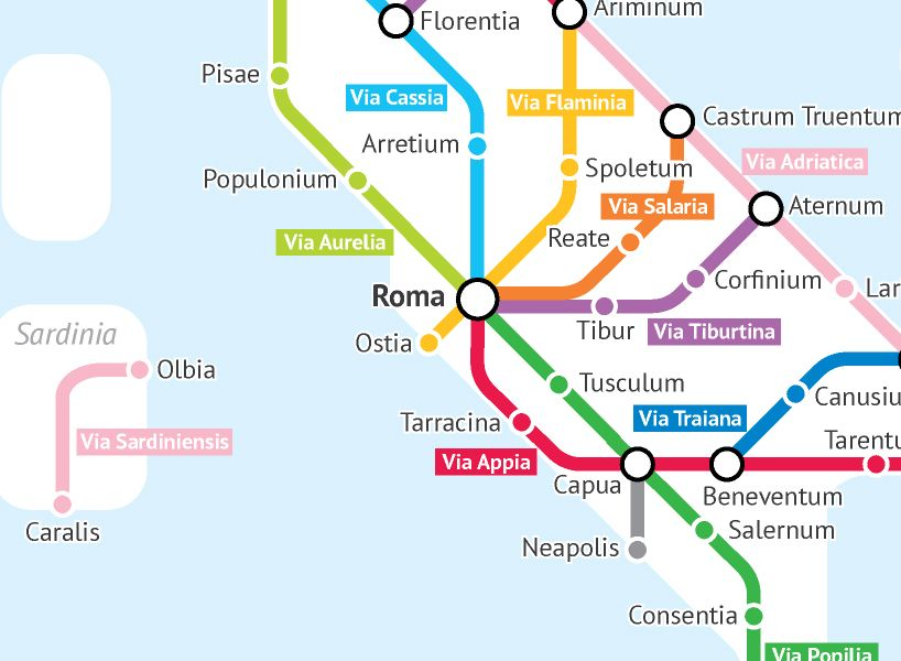 Ancient Rome Subway Map.Statistics Student Turns The Roman Empire S Ancient Roads Into A