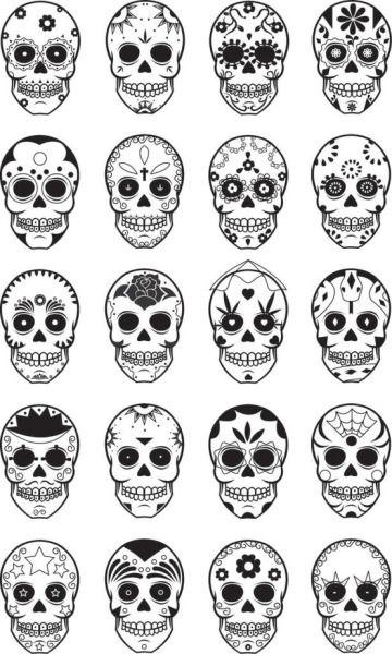 Sugar Skull Tattoo On Tumblr Sugar Skull Tattoos Skull Tattoo Design Small Skull Tattoo