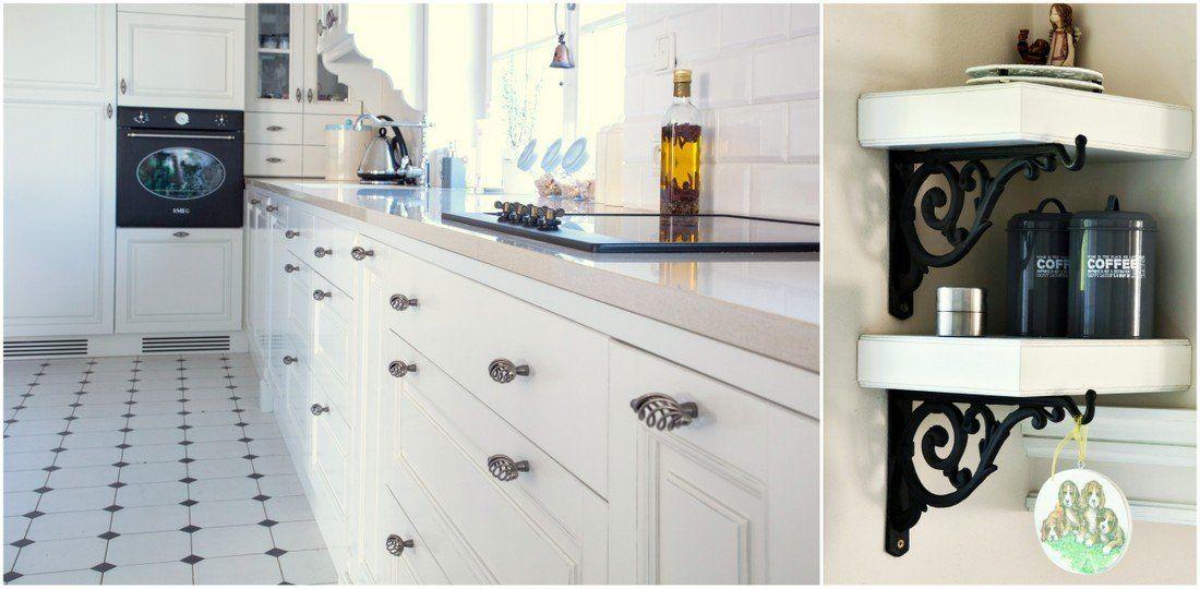 W Rustykalnej Kuchni Podloga Bialo Czarna To Niezbedny Element Designerski Zblizenie Elementow Dekoracyjnych Stanowiacych O P Home Home Decor Kitchen Cabinets