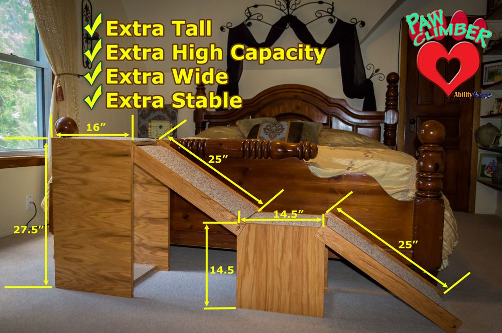 The extra tall, extra wide, extra stable bed pet ramp from
