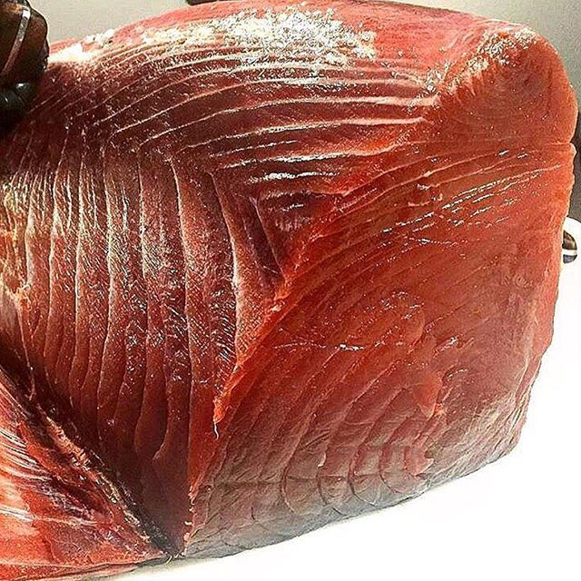 WILD & POLE CAUGHT!  We love marinating our #local caught Tuna in Pineapple Thai at @SaucyLipsFoods  photo x @sea2table