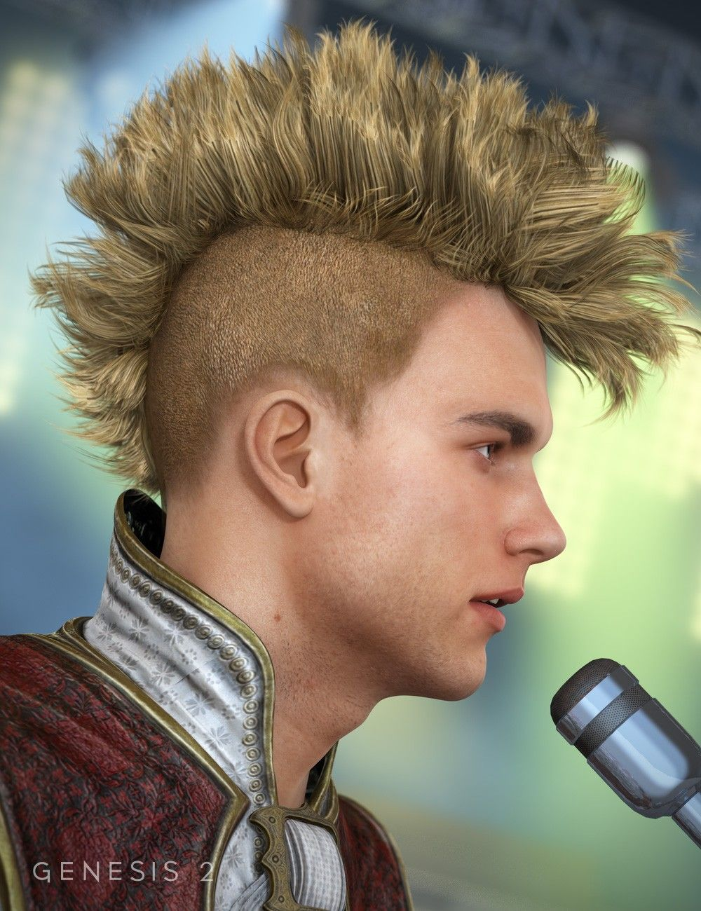 Gothic Mohawk Hair For Genesis 1 2 Males 3d Hair Gothic