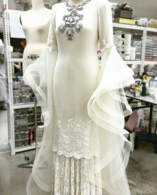 be6973d19302 Nikah dress by rizalman ibrahim   novias   Wedding dresses, Muslim ...