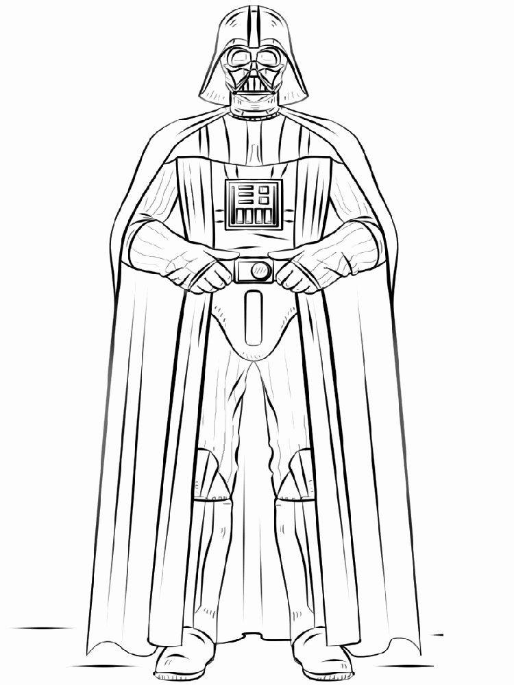 Darth Vader Coloring Page Unique Darth Vader Drawing at