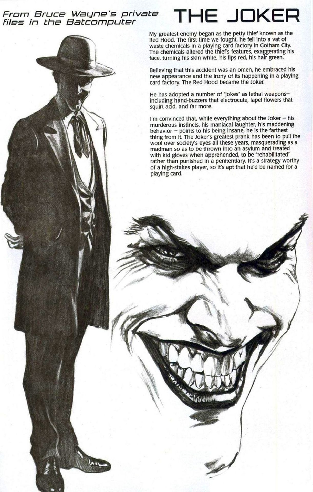 the Joker, Penciled by Alex...