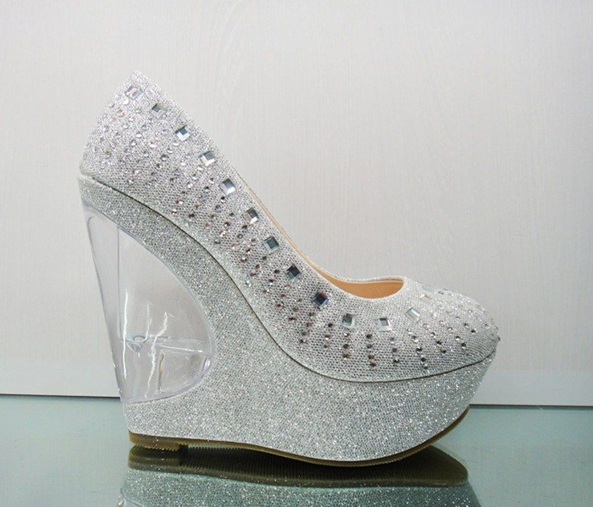 Delightful Wedding Shoes Wedges | Silver Platform Wedge Shoes Promotion Online  Shopping For . Pictures
