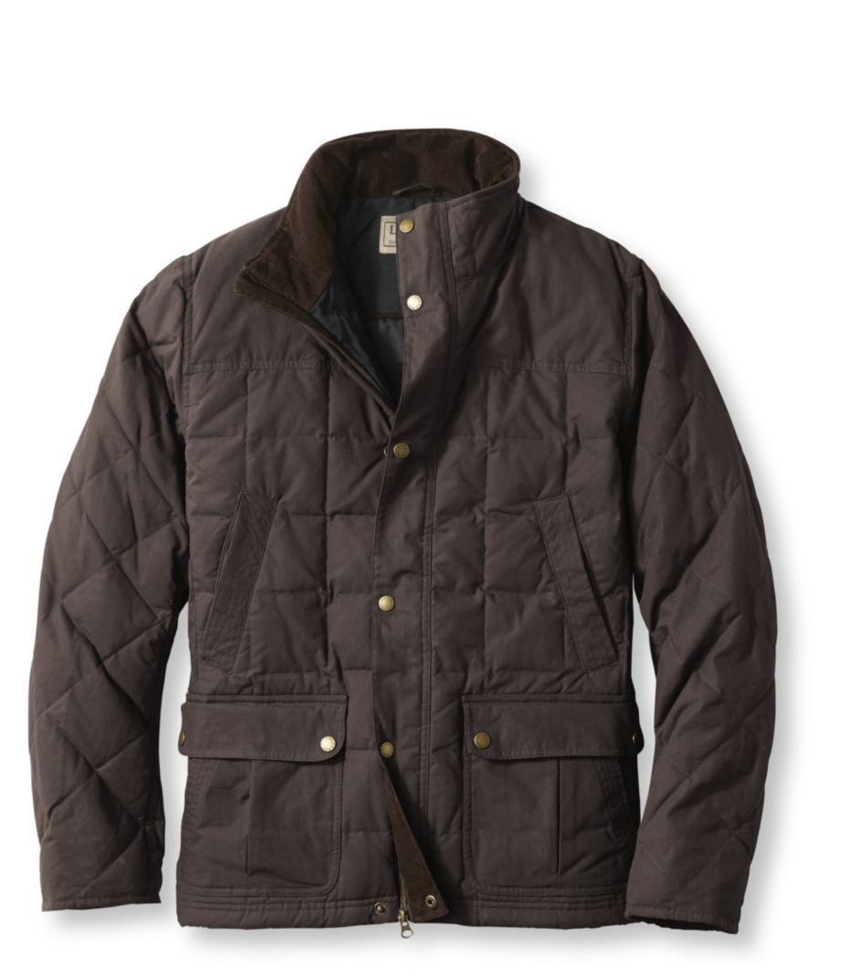 L L Bean Upcountry Waxed Cotton Down Jacket Designer