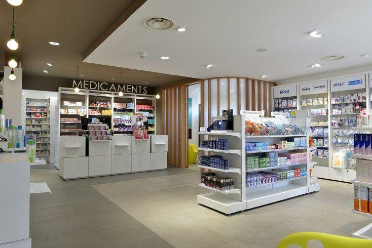 Pharmacie du parc comptoirs pixel et zone de for Amenagement interieur pharmacie