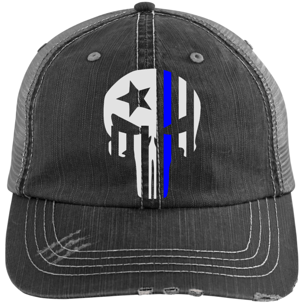 9df2a2eca3c Awesome Thin Blue Line Police Distressed Cap Hat Check it out here https
