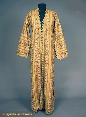 Augusta Auctions, May 2007 Vintage Clothing & Textile Auction, Lot 289: Embroidered Mid-eastern Ladys Coat, C. 1930s