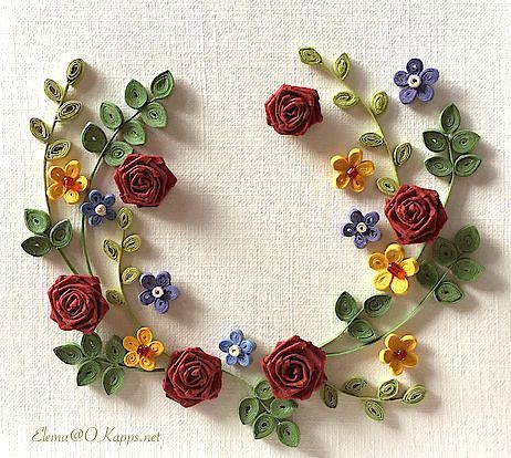 #quilling #quillingcard #flora#floral
