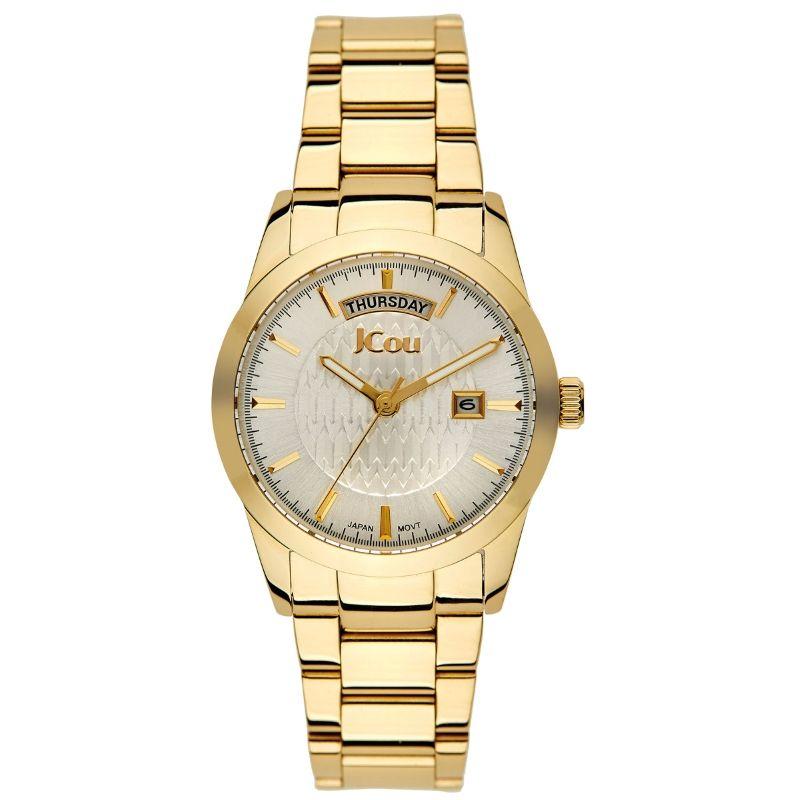 53d16aed06 Πανέμορφο γυναικείο ρολόι JCou της σειράς Princess με χρυσό μπρασελέ από  ανοξείδωτο ατσάλι και υπέροχο ασημί