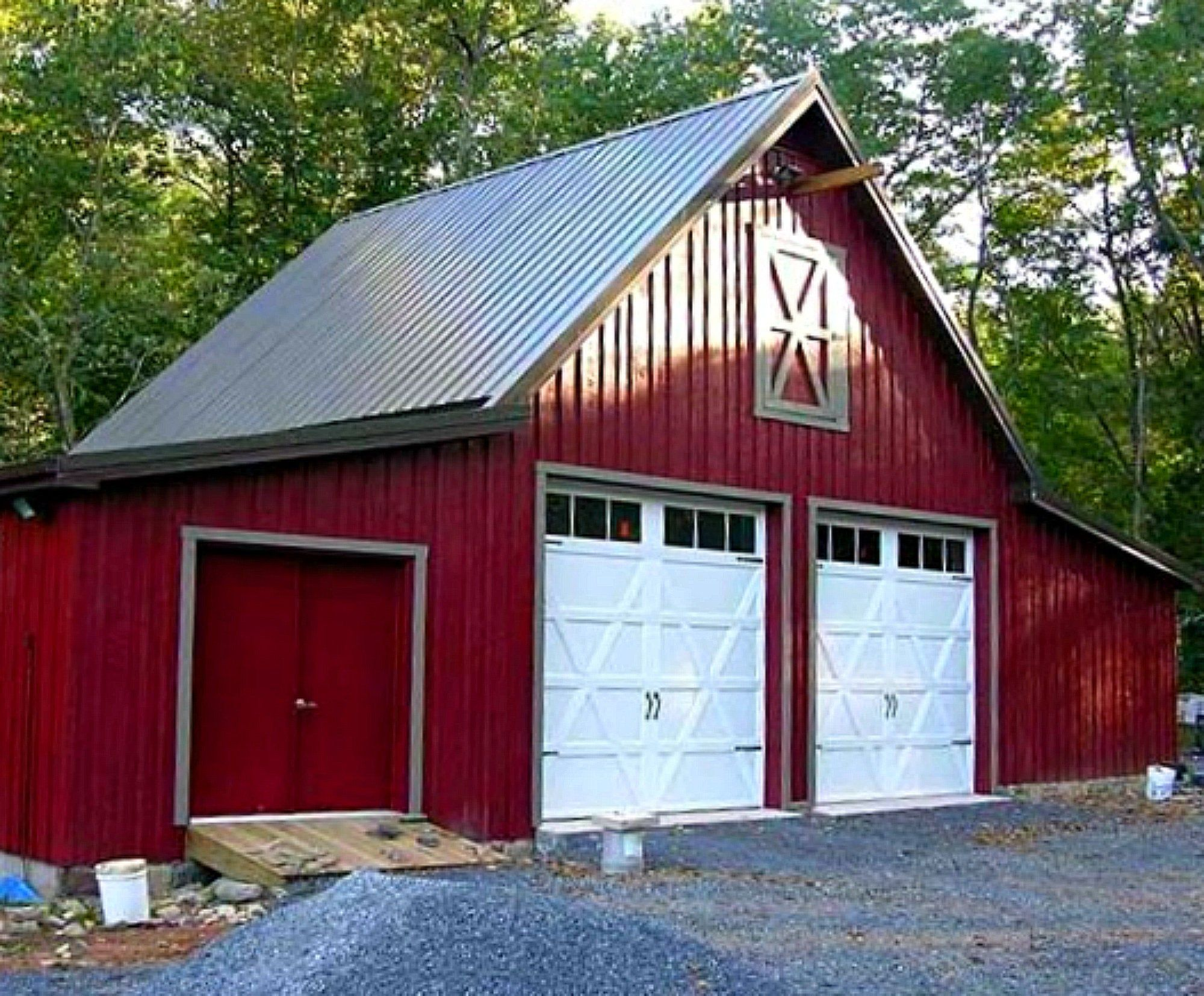 31 Car Barn Designs Thirty One Optional Layouts Complete Etsy In 2020 Barn Construction Pole Barn Construction Barn Plans