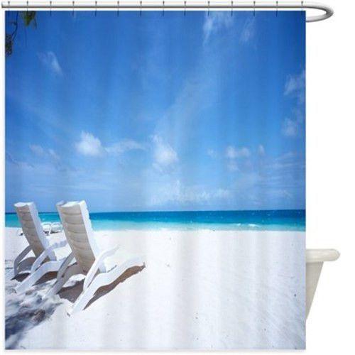 Beach Chairs Shower Curtain 124R