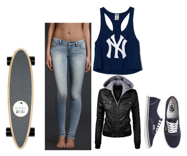 skater chick by tumblrgirlpride260 on Polyvore featuring Victoria's Secret PINK, Vans, Hollister Co. and Isabel Marant