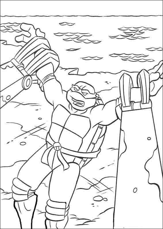 Teenage Mutant Ninja Turtles Tegninger til Farvelægning 27 | idéias ...