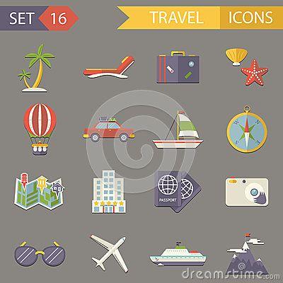 Retro Travel Rest Symbols Tourist Accessories