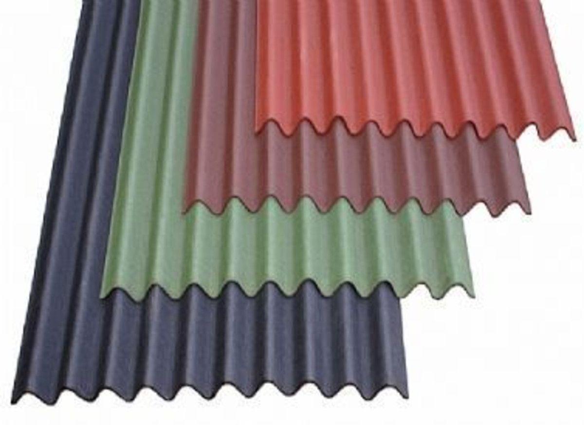 Coroline Corrugated Bitumen Roof Sheet 2 6mm Thick 950mm X 2000mm Plastique Ondule Contener Maison Couleur