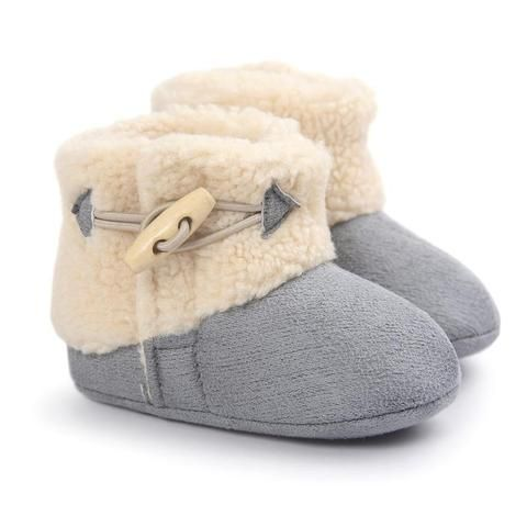 Newborn Baby Girl Boy Shoes for Winter Warm Plush Boots Infant Toddler Soft Sole…
