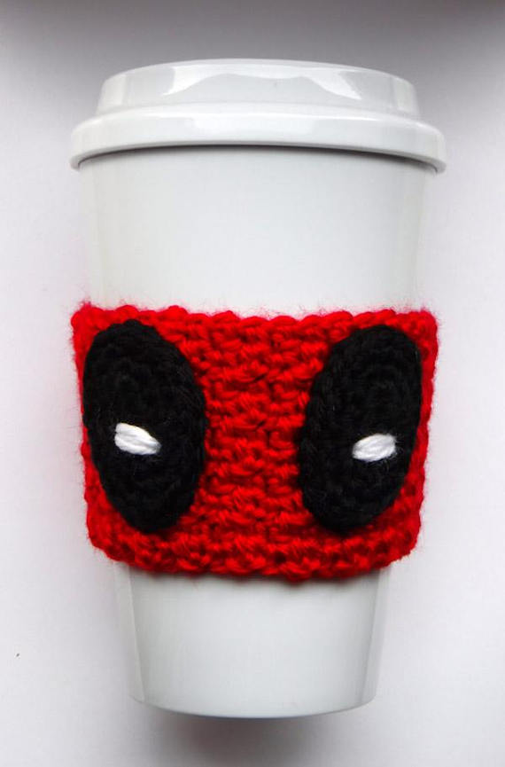 Crochet Deadpool Coffee Cup Cozy | Pinterest | Taza acogedora ...