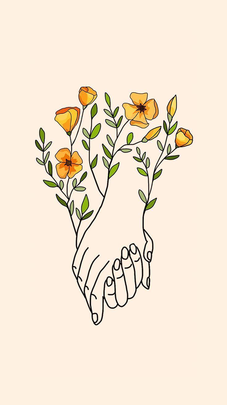 Hands holding hands von Gocase - #Given #Gocase # Hands #planodefundo #Wallpaper... #flowershintergrundbilder