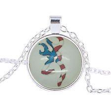 Unique Jewelry - Fashion Vintage Cabochon Tibetan Silver Glass Chain Pendant Necklace Charm IB420