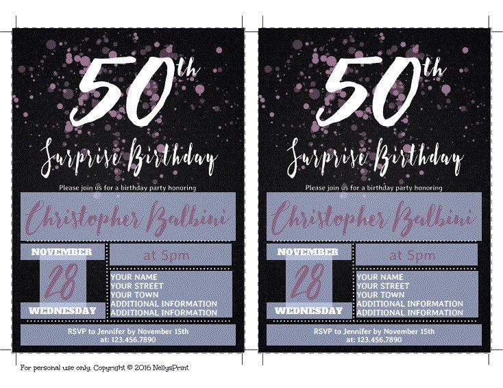 50th surprise birthday invitation adult birthday invitations 50th surprise birthday invitation adult birthday invitations surprise birthday invitation self editable pdf filmwisefo