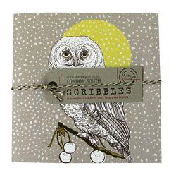 Owl Print Print Notebook - Red Bird Living