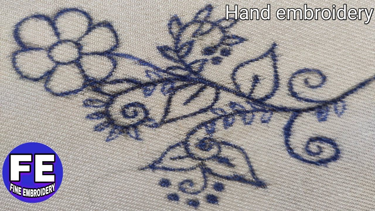 Hand embroidery, latest flower embroidery tutorial,flower ...