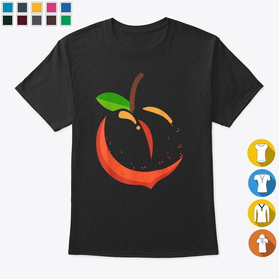 Big Peach Sliced Costume Cute Easy Vegetable Halloween Gift Tshirt, Hoodies & Sweatshirts Unisex - Black (S, Cotton) #area51partyoutfit