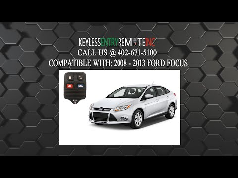 How To Change A 2000 2012 Ford Focus Key Fob Remote Battery Fcc