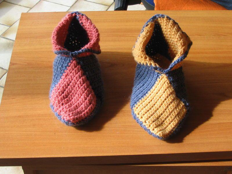 mod le tricot chausson adulte gratuit chausson adulte tricot. Black Bedroom Furniture Sets. Home Design Ideas