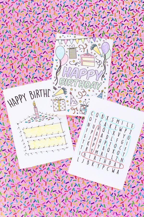 Free Printable Birthday Cards For Kids Printables Pinterest