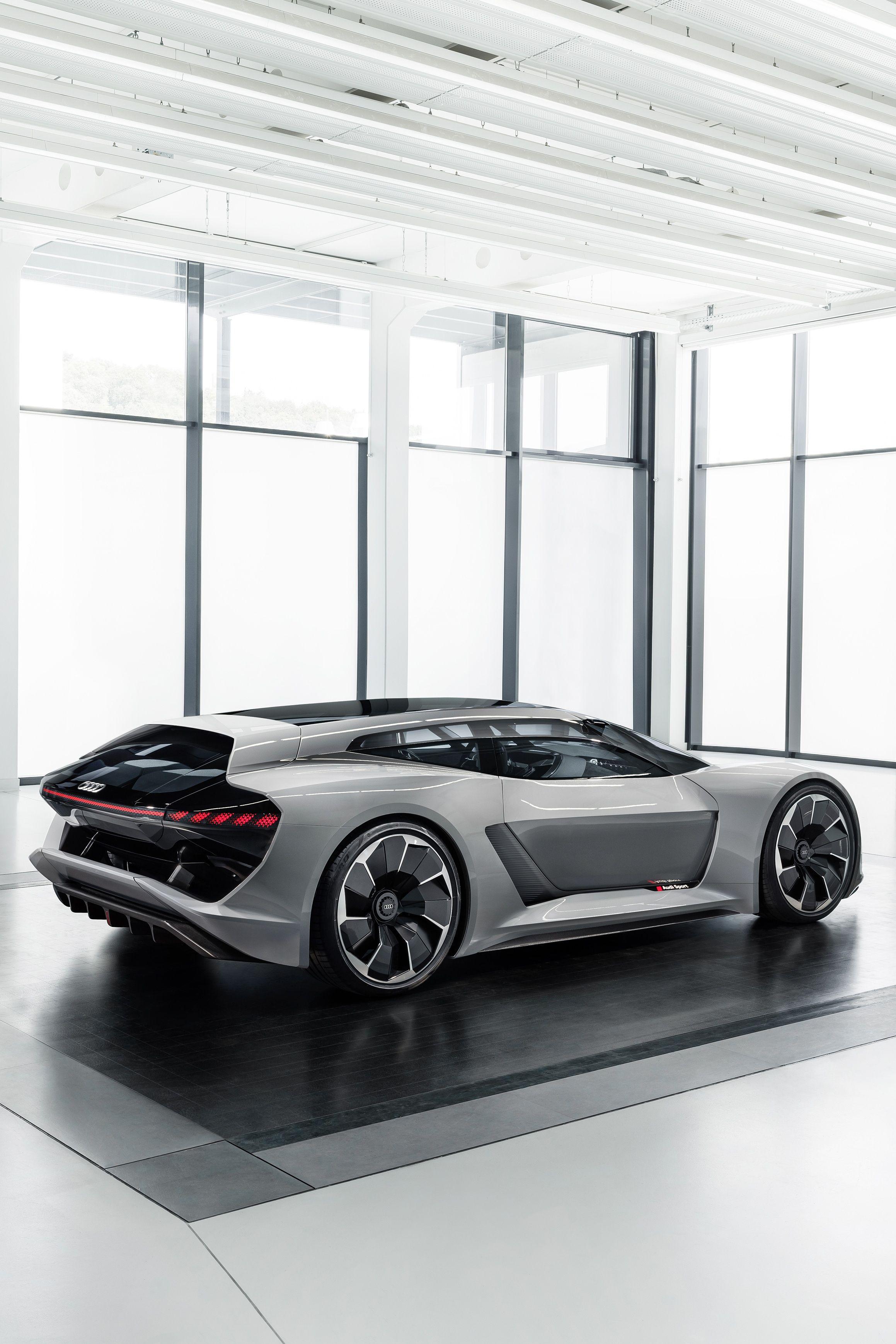 The All Electric Audi Pb18 E Tron The Man Audi Super Cars Supercars Concept