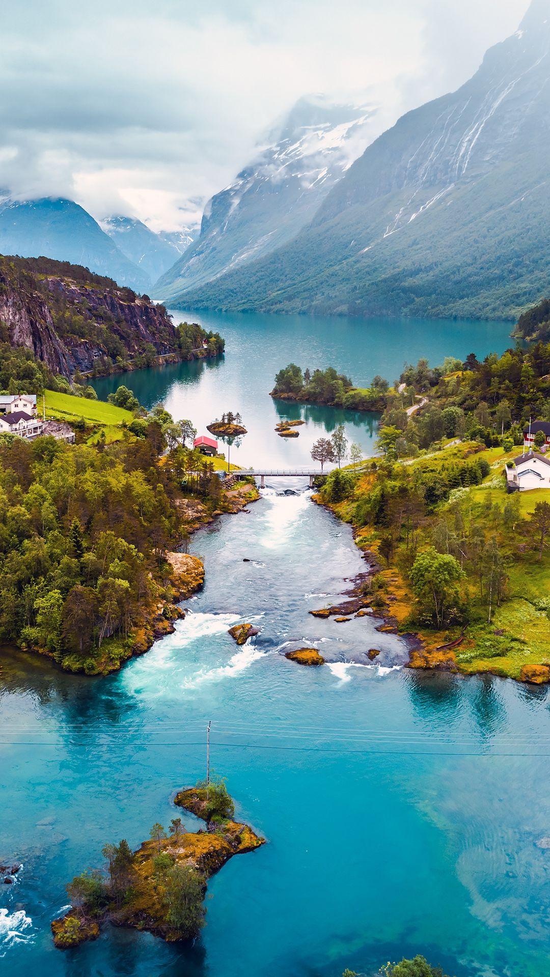 Amazing Norway Nature Landscape Wallpaper Nature Wallpaper Iphone Wallpaper Mountains
