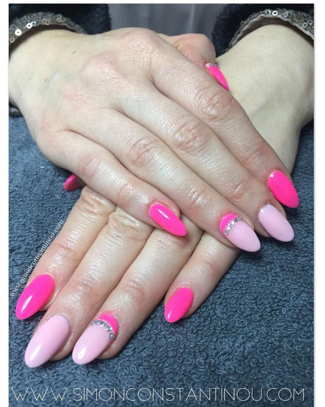 Pink for Spring! Lovely nail extensions by Monika with a pretty ...