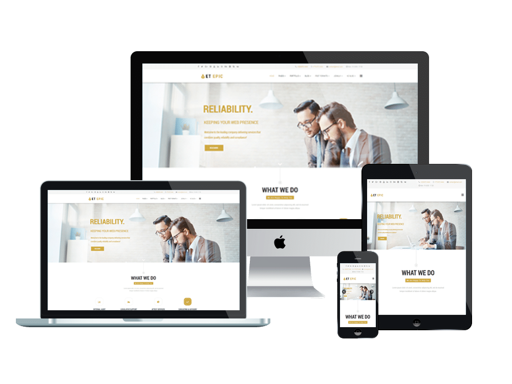 Et epic free responsive wordpress business themes template and et epic free responsive wordpress business themes flashek Gallery