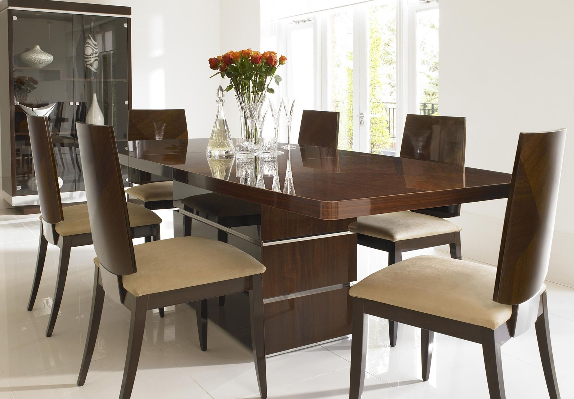 2389 Alf Rossini Extending Dining Table At Furniture Village From