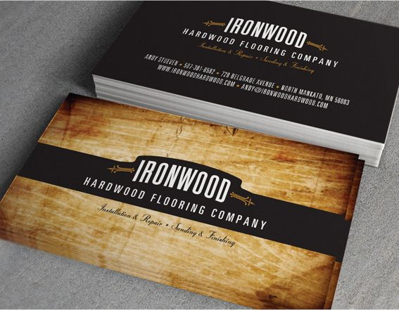 Ironwood Hardwood Flooring Business Cards on Behance ...
