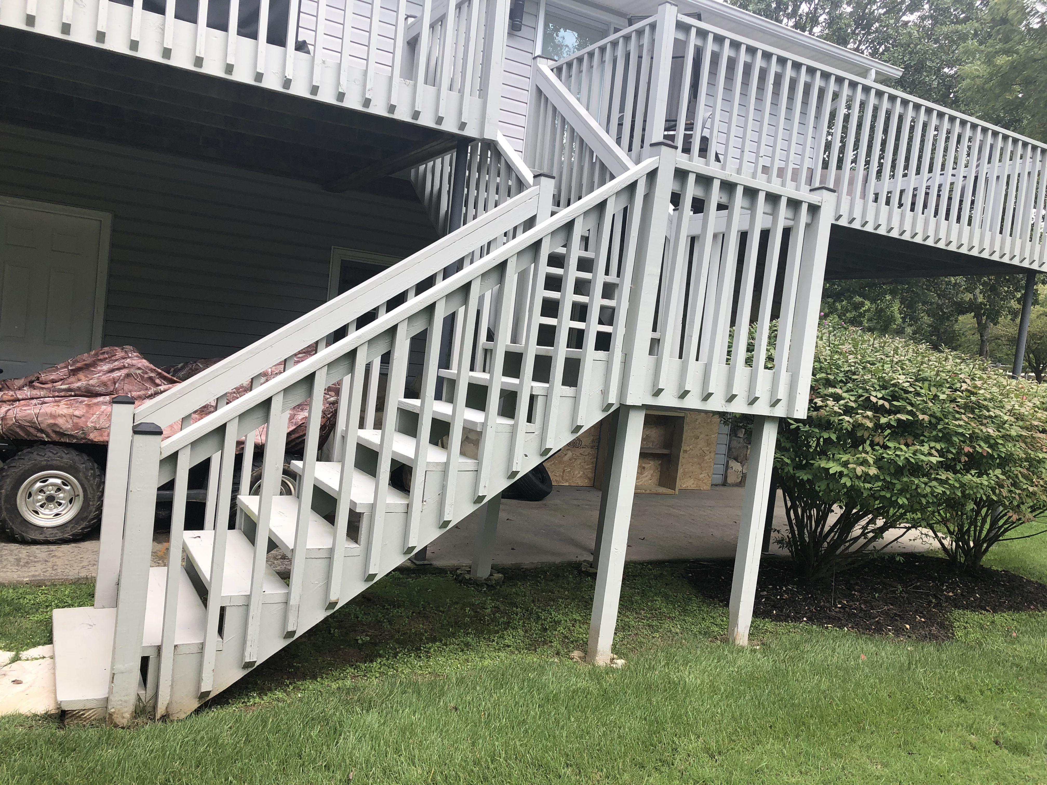 wedding cake steps handrail