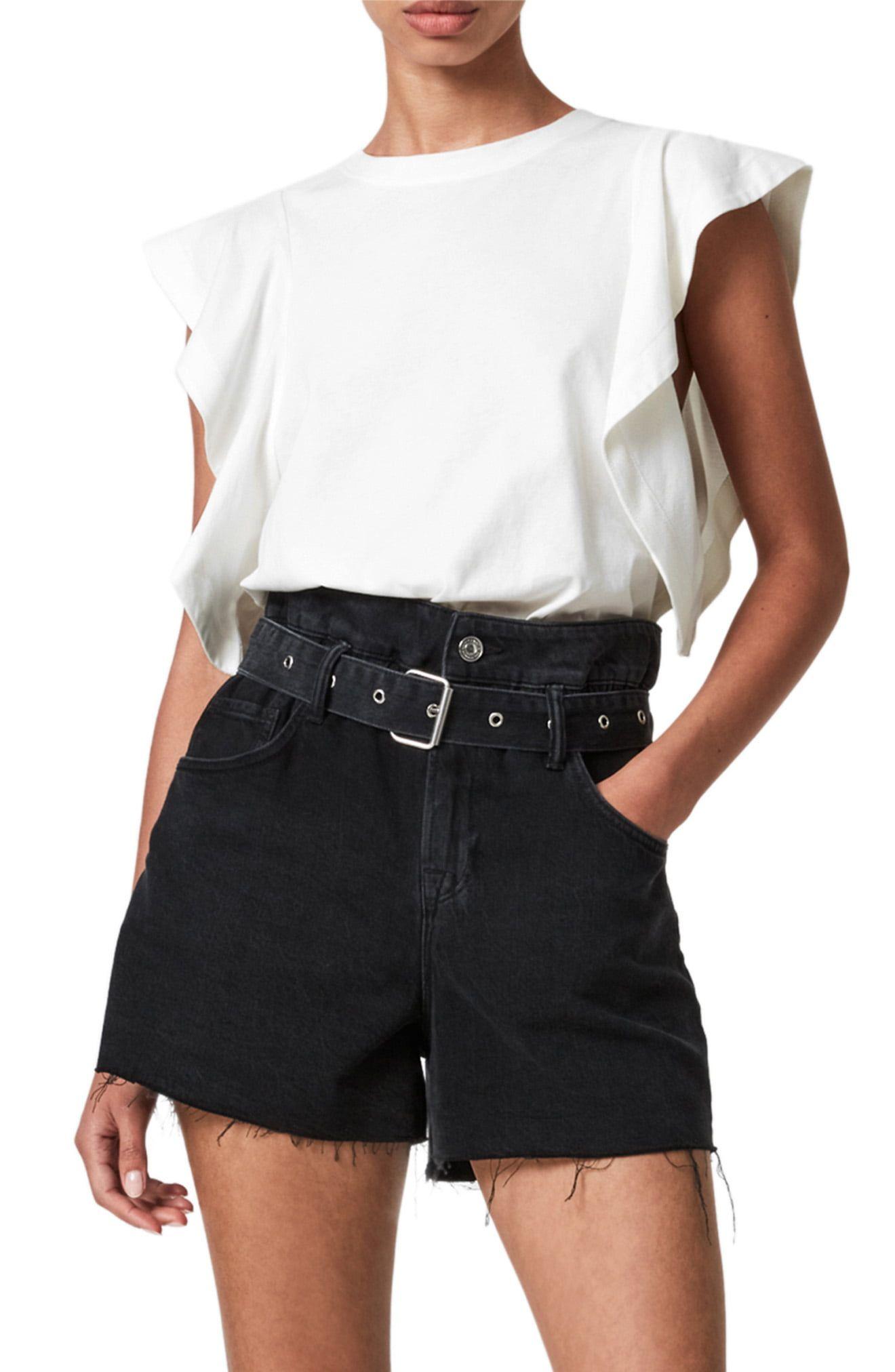 Ryleigh Ruffle Smocked Back Linen Top | Tops, Ruffle top