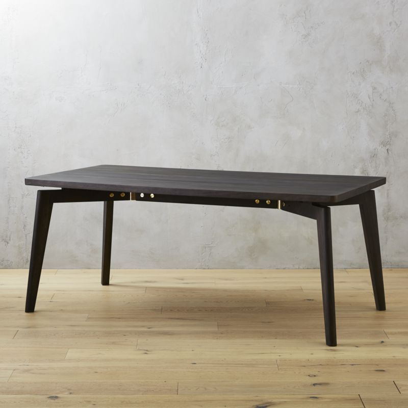 Finmark Charcoal Dining Table Dining table design Charcoal black