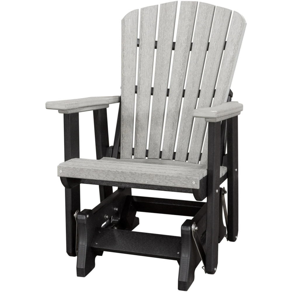Qw Amish Fan Back Adirondack Glider In 2020 Polywood Outdoor Furniture Furniture Wood Furniture