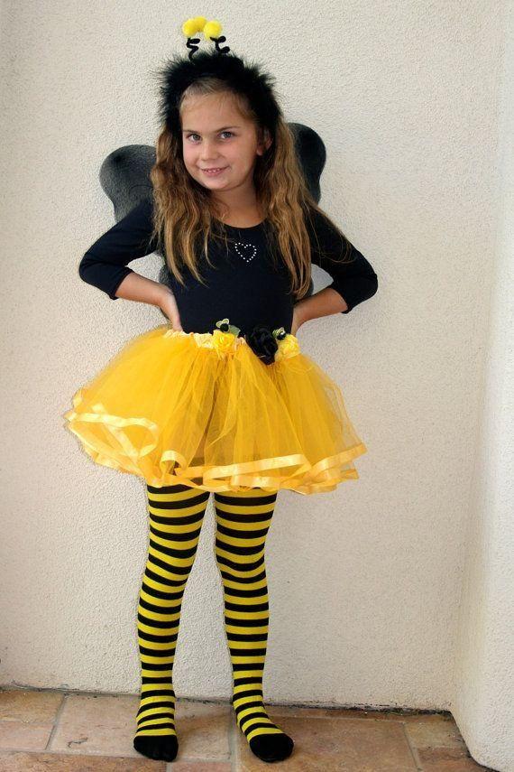 3e197f8dd4e A Bee Tutu With Black And Yellow Striped Pantyhose