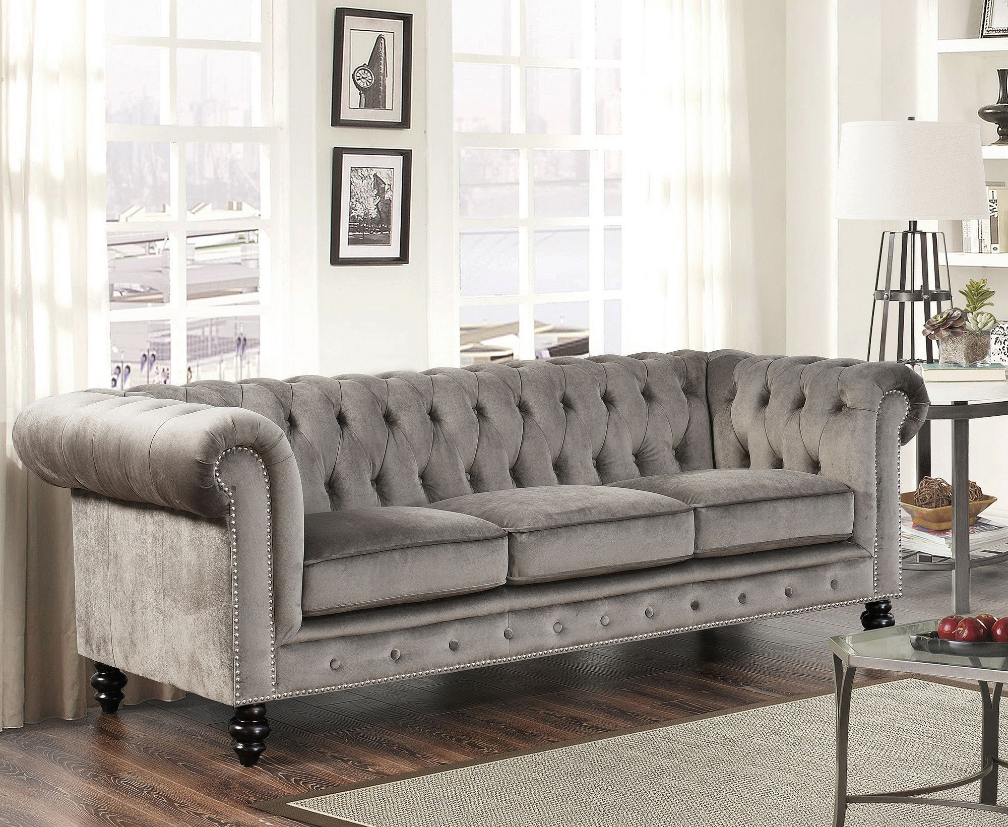 chesterfield sofa living room ideas lounger dimensions grand pinterest